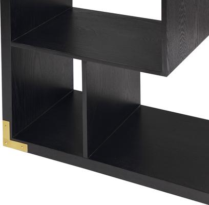 Genoa Modern Geometric Shelving in Black Ash image 3