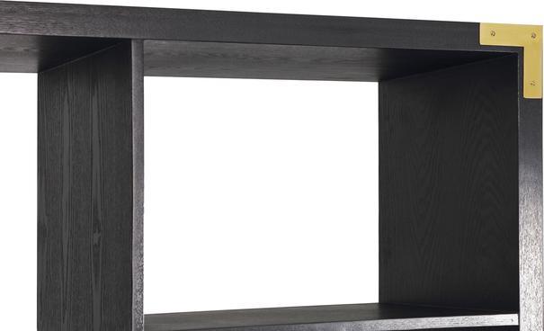 Genoa Modern Geometric Shelving in Black Ash image 8