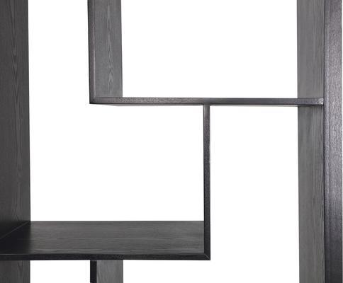 Genoa Modern Geometric Shelving in Black Ash image 5