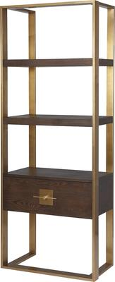 Ophir Black Ash and Steel Contemporary Shelving image 3