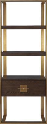 Ophir Black Ash and Steel Contemporary Shelving image 2