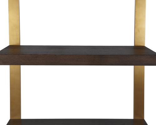 Ophir Black Ash and Steel Contemporary Shelving image 10