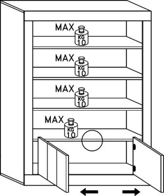 Como Two Door/Four Shelf Bookcase - Grey Finish image 4