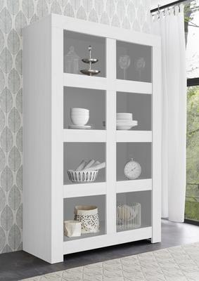 Bergamo Collection Open Bookcase - Matt White