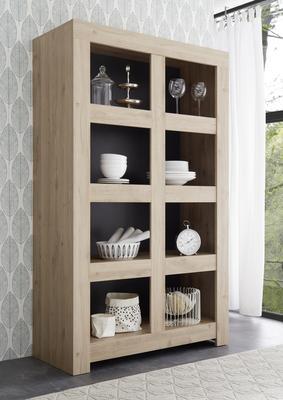 Bergamo Collection Open Bookcase - Kadiz Oak Finish