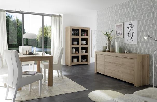 Bergamo Collection Open Bookcase - Kadiz Oak Finish image 2
