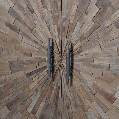 Elm Mosaic Textured Cabinet Two Door Four Shelf image 3