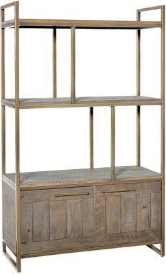Hadley Nutmeg Open Bookcase with Cupboard