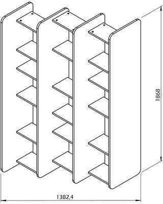 Twin shelving unit image 8