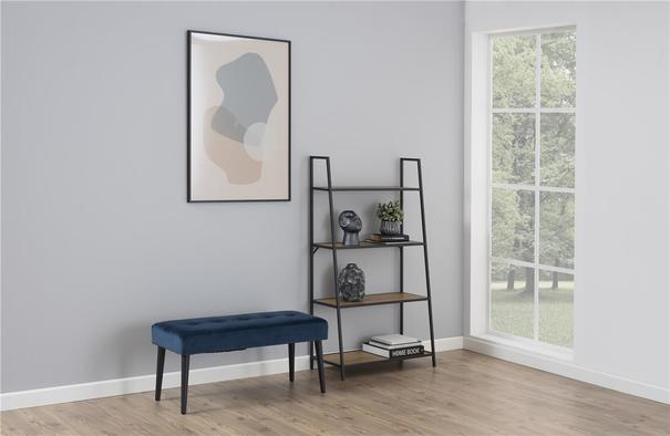 Seafor slant wall unit with 4 shelves image 5