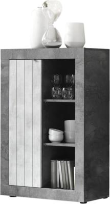 Como  Small Bookcase  and Storage Unit - Anthracite and Grey Finish