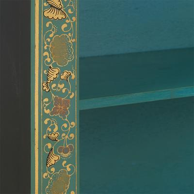 Classic Chinese Bookcase - Blue image 2