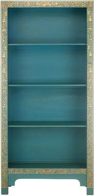 Classic Chinese Bookcase - Blue image 3