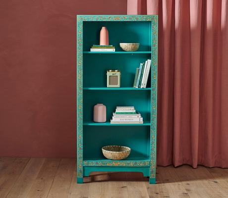 Classic Chinese Bookcase - Blue image 4