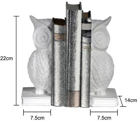Owl Bookends White image 2