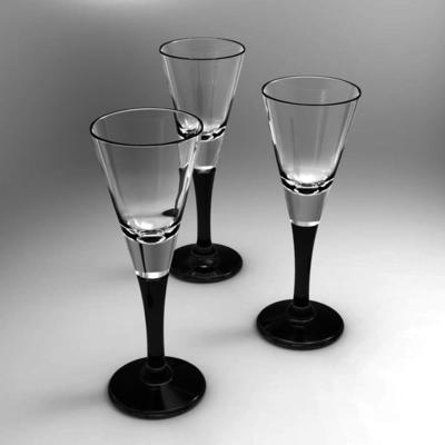 Set of 6 Black Stem Liqueur Glasses image 2