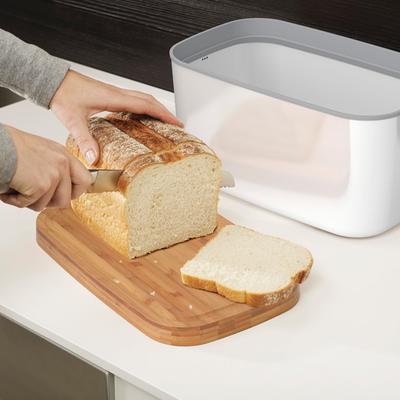 Joseph Joseph Steel Bread Bin - White image 3