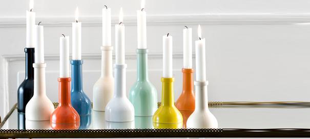 Ferm Living Wine Bottle Candle Holder - Natural