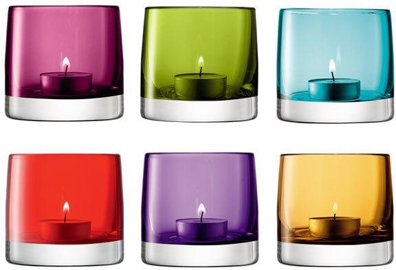 LSA Light Colour Tealight Holder - Amber image 2