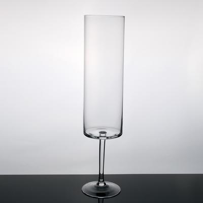 Tall Footed Glass Candle Holder 66cm