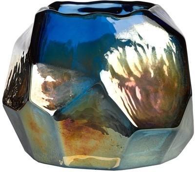 Iridescent Glass Squat Candle Holder image 2