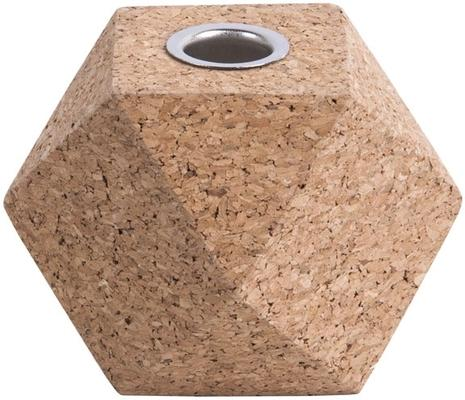 Present Time Hexagon Cork Candle Holders - Set of 3 [D] image 2
