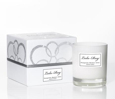 Luxury Scented Candle - Pomegranate - Mandarin - Amber