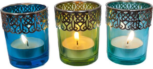 Present Time Moroccan Tea Light Set