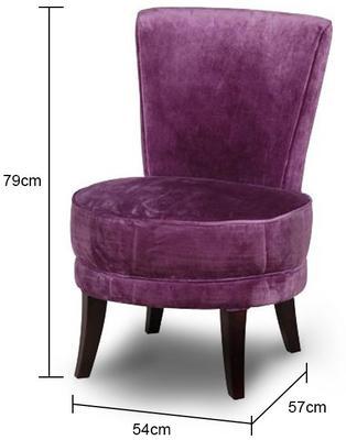 Velvet Bedroom Chair image 2