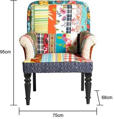 Patchwork Multicoloured Armchair image 2