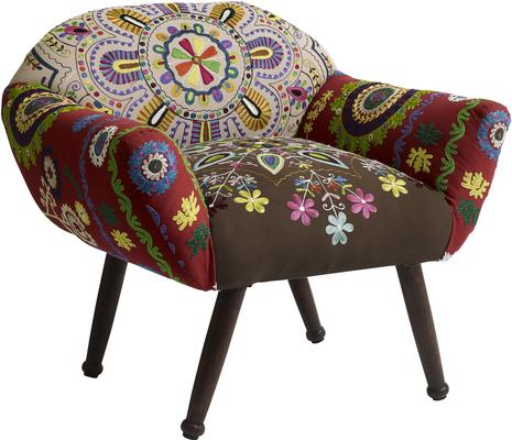 Low Back Ethnic Embroidered Chair