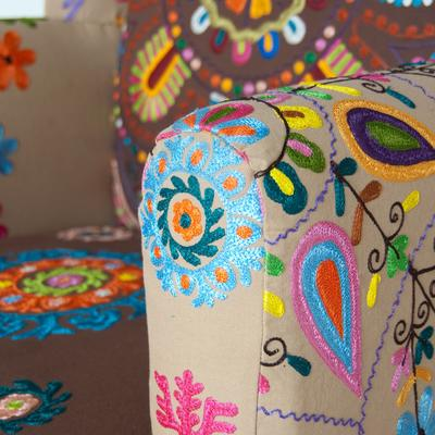 Embroidered Fabric Chair image 2