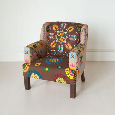 Embroidered Fabric Chair image 4
