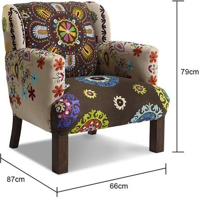 Embroidered Fabric Chair image 5