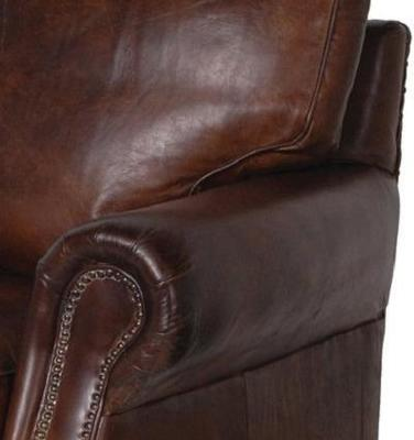 Crumple Brown Leather Armchair image 2