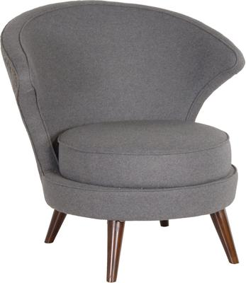 Felt Upholstered Chair Fifties Style