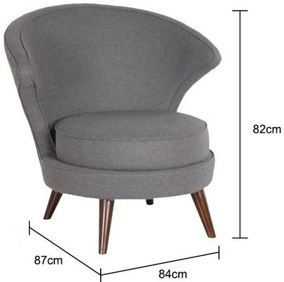 Felt Upholstered Chair Fifties Style image 2