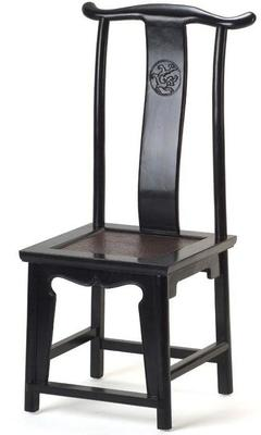 Yoke Back Side Chair - black lacquer