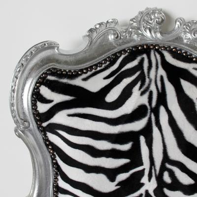 French Zebra Print Chair image 3