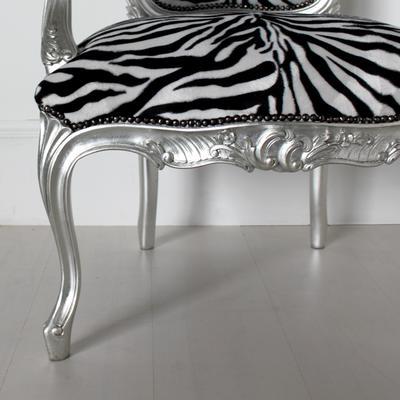 French Zebra Print Chair image 4