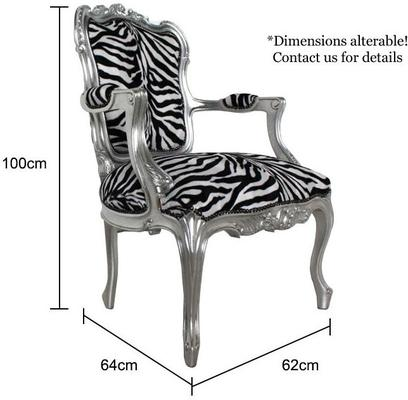 French Zebra Print Chair image 5