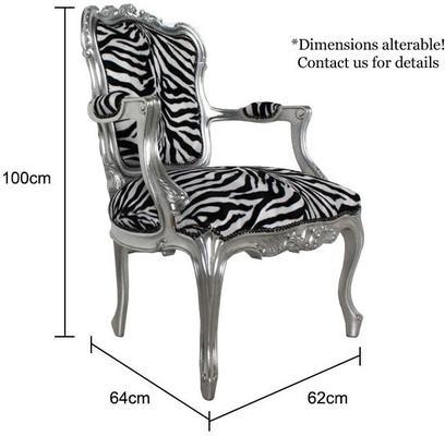 French Zebra Print Chair image 5