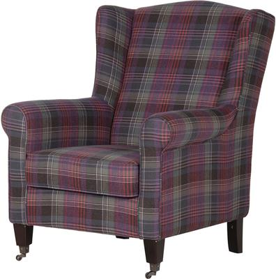 Chequered Club Chair Scottish Tartan