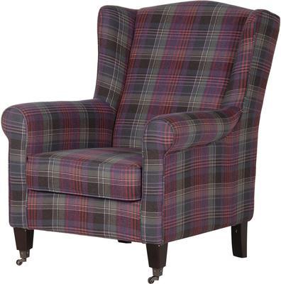 Chequered Club Chair Scottish Tartan