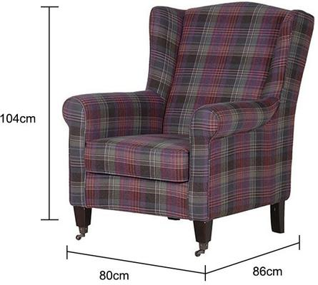 Chequered Club Chair Scottish Tartan image 2