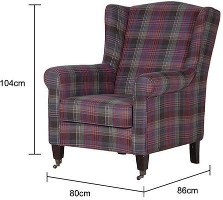 Chequered Club Chair Scottish Tartan image 2