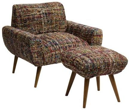 Chindi Armchair and Footstool image 3