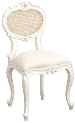 French Bedroom Chair in White