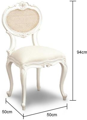 French Bedroom Chair in White image 2