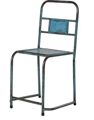 Distressed Metal Chair